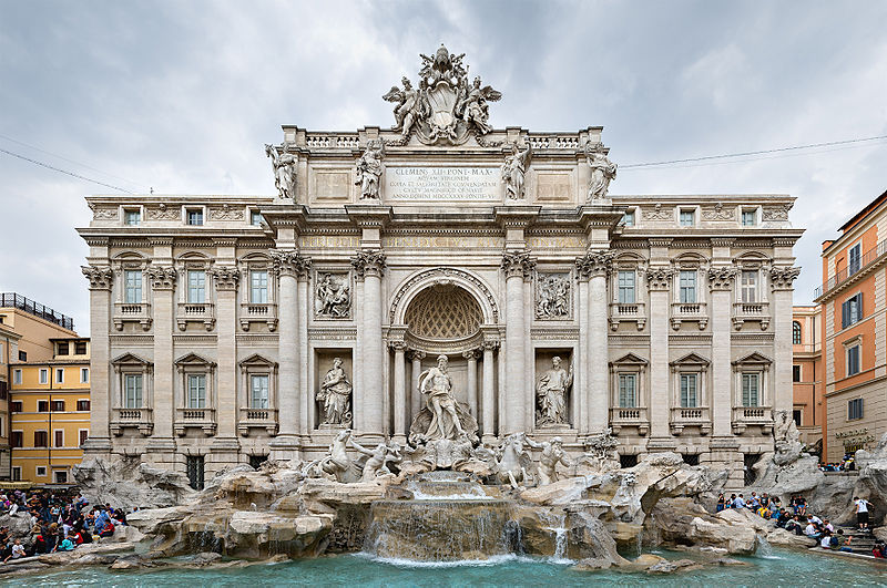 Turdless Trevi Fountain, Rome